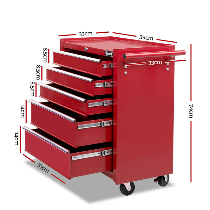 Giantz 14 Drawers Toolbox Chest Cabinet Mechanic Trolley Garage Tool Storage Box