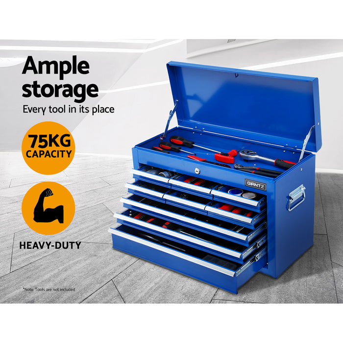 Giantz 15 Drawers Tool Box Chest Trolley Cabinet Garage Storage Boxes Organizer Blue