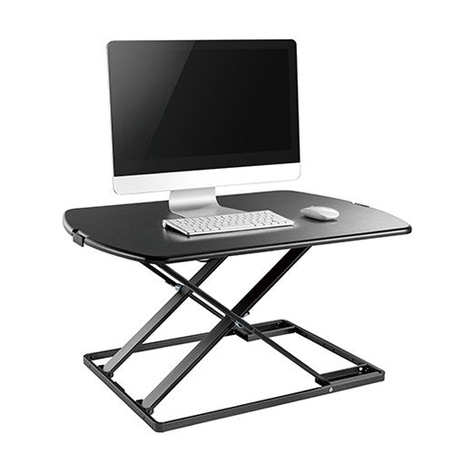 Brateck Ultra-Slim Sit-Stand Desk Converter (Lockable Gas Spring Mechanism) Weight Up to 10kg