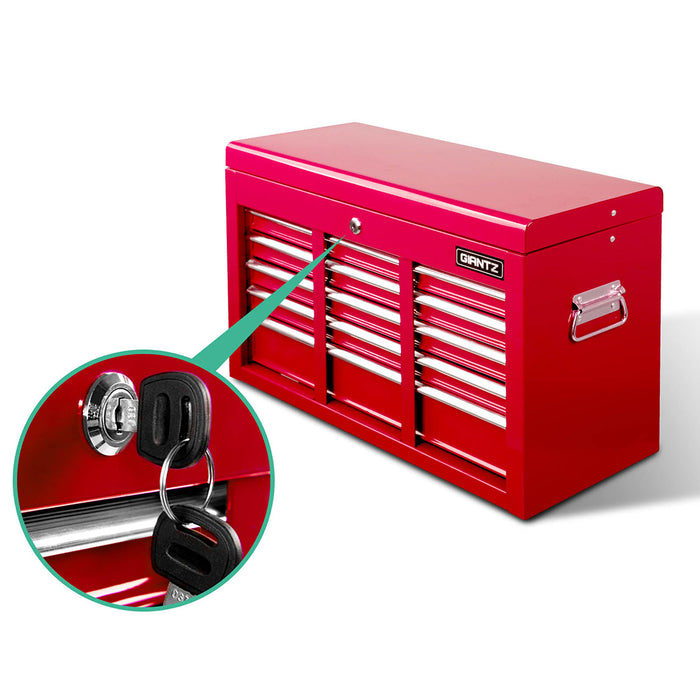 Giantz 9 Drawer Mechanic Tool Box Storage - Red