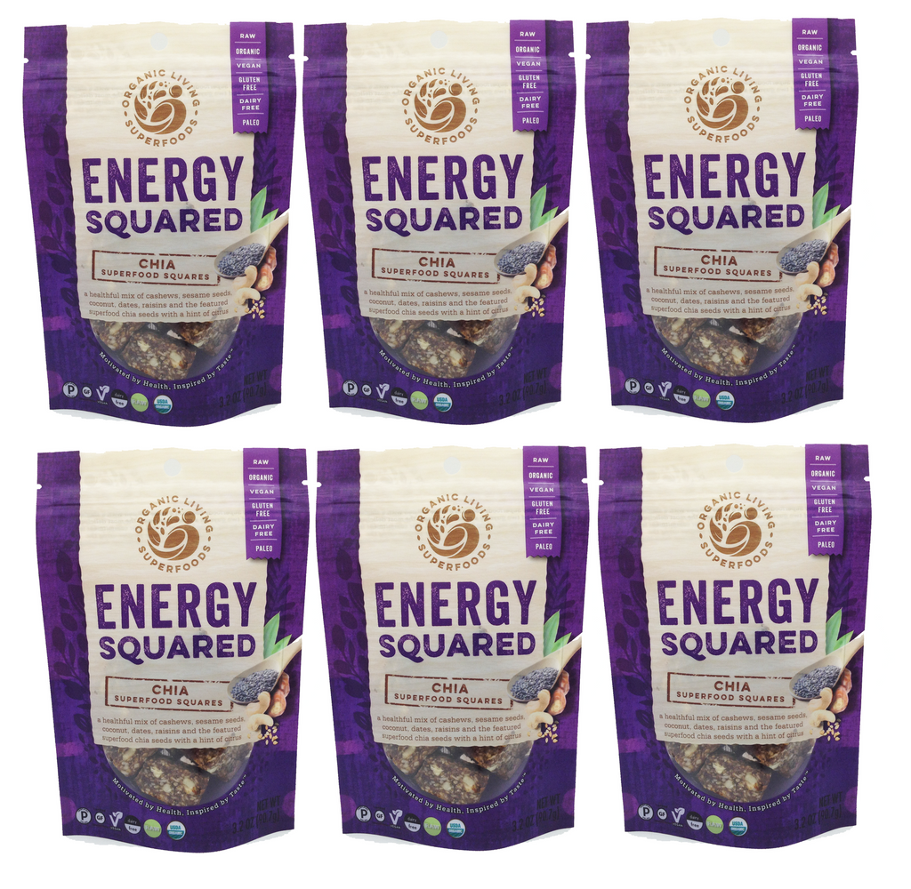 Organic Chia Energy Squares (6-packs or 1 lbs)