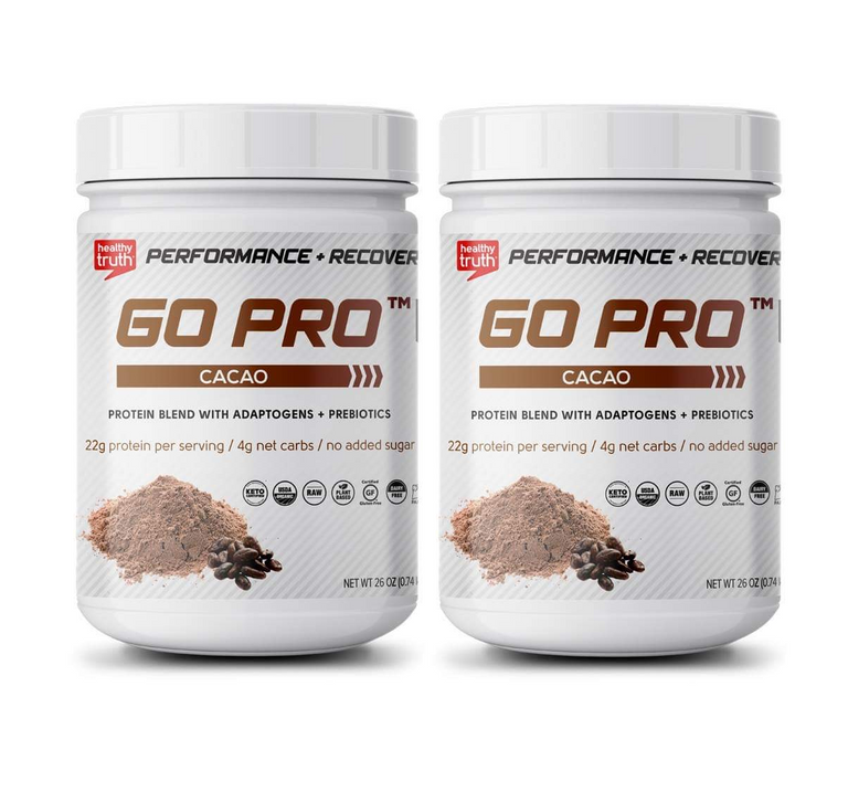 Organic Cacao Plant Protein Powder Pea Protein, Sacha Inchi Protein, Brown Rice Protein 2-pack, 60 day supply