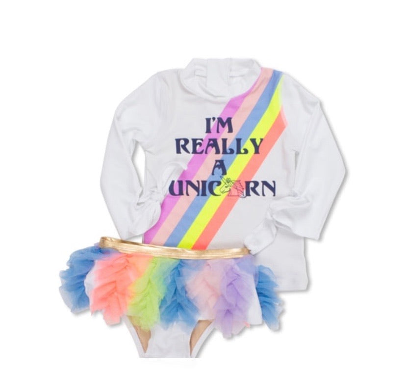 Unicorn two-piece swimsuit