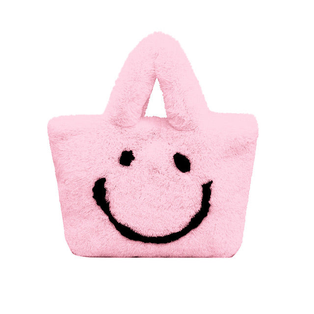 Plush Smiley Face purse
