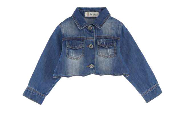 Denim crop shirt