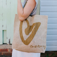 Load image into Gallery viewer, Jute Grocery Bag - Love