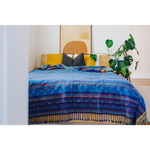Handloom Blankets - True Blue | Eco friendly home products | Earth Worthy