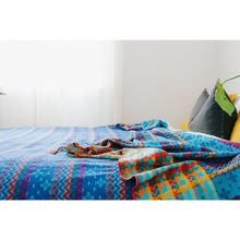 Load image into Gallery viewer, Handloom Blankets - True Blue | Eco friendly home products | Earth Worthy