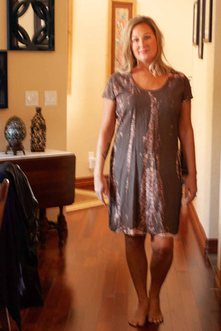 Brown Taupe Tie Dye Dress