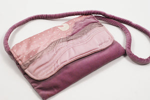 Wearable Art - Lilac Moon Handbag