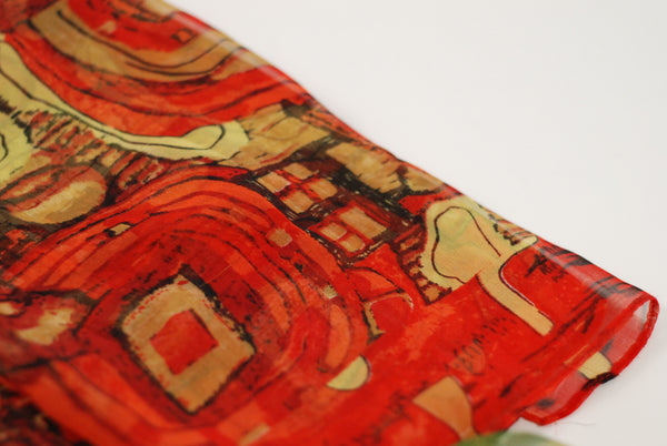 Art Scarf.  Klimt Abstract.