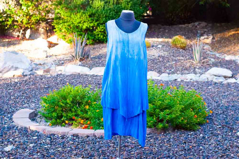 Maxi Dress - Blue Tie Dye