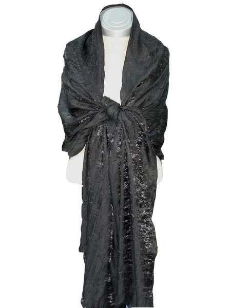 Bwrapt Shimmer Wrap in Black is a beautiful unique Travel Wrap and Shawl