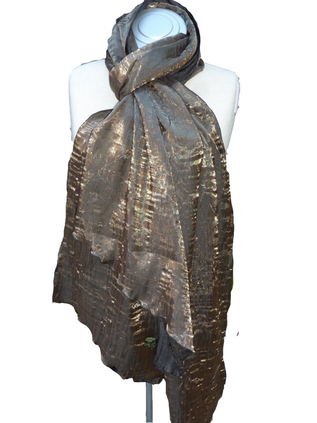 Bwrapt Shimmer Wrap in Bronze is a beautiful unique Travel Wrap and Shawl