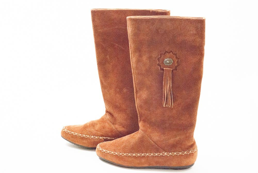 Bohemian Brown Suede Boots