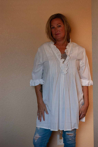 White Artisan Tunic