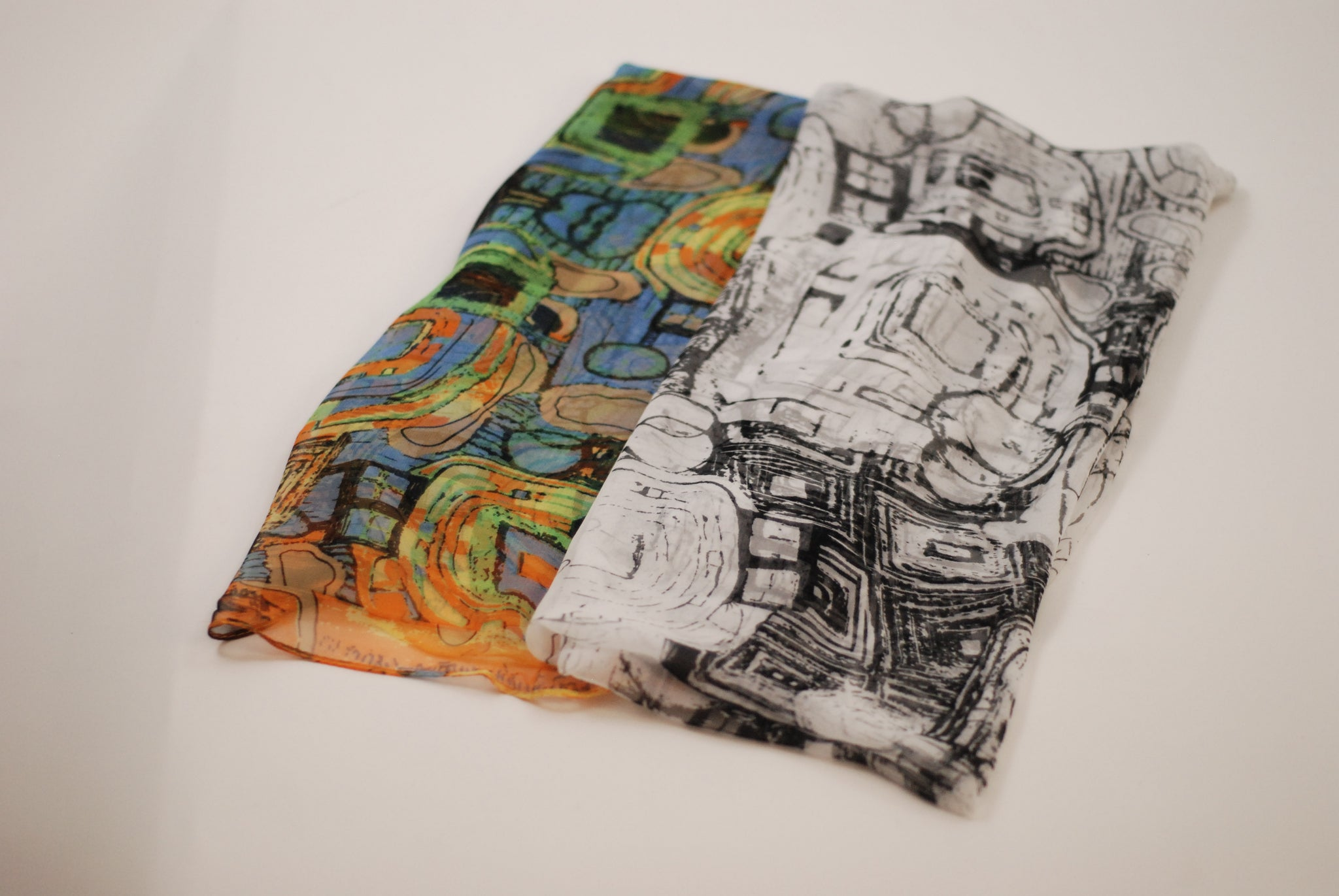 Art scarves. Gustav Klimt Abstract scarves are great for work and leisure. Lightweight and travel friendly.