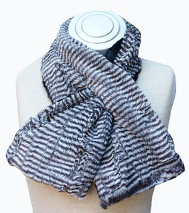 Elegant ,hip, and stylish on trend faux animal scarf neck wrappers
