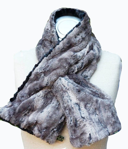 Elegant , hip and stylish on trend faux animal scarf neck wrappers