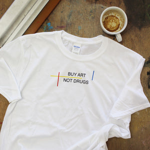 v.1 BUY ART White T-Shirt (Colour) - LARGE ONLY