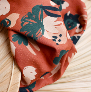 Atelier Brunette - Posie Chestnut Viscose Fabric