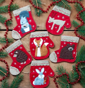 Christmas felt ornament kit