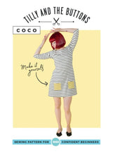 Load image into Gallery viewer, Tilly and the Buttons Coco top dress pattern