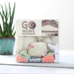 Go Weave loom kit coral and mint