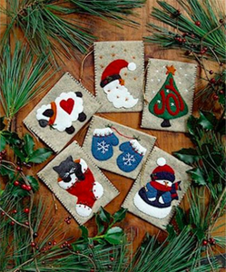 Miniature gift bag felt ornaments kit