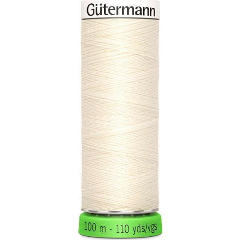 Gutermann recycled thread white