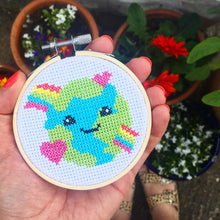 Load image into Gallery viewer, The Make Arcade Love the Planet cross stitch kit