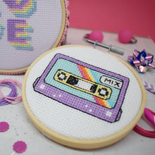 Load image into Gallery viewer, The Make Arcade Retro Cassette cross stitch kit