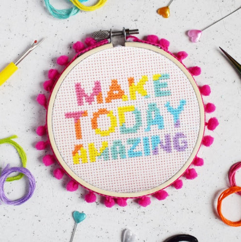 The Make Arcade Make Today Amazing cross stitch kit
