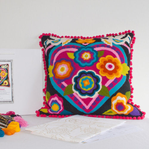 Emily Peacock Mexican Heart tapestry kit