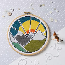 Load image into Gallery viewer, Hawthorne Handmade Mountain Adventure Cross Stitch Kit