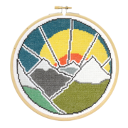 Hawthorne Handmade Mountain Adventure Cross Stitch Kit