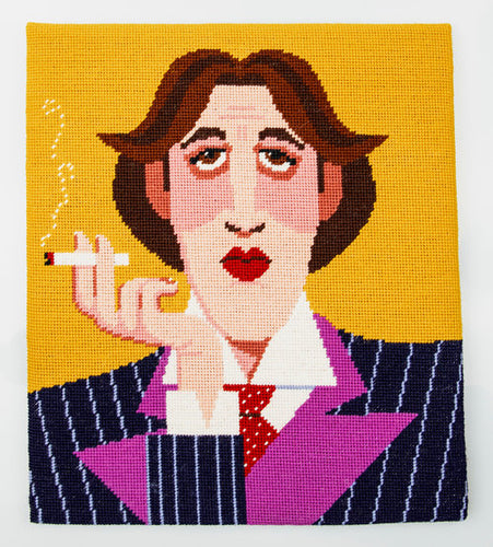 Emily Peacock tapestry kit - Oscar Wilde