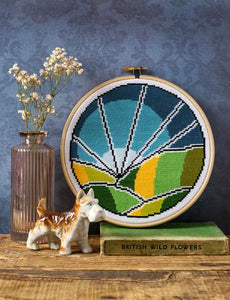 Hawthorne Handmade Rolling Fields Cross Stitch Kit