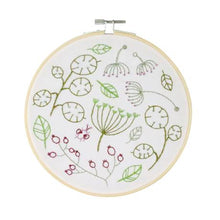Load image into Gallery viewer, Hawthorn Handmade Seedhead Spray embroidery kit