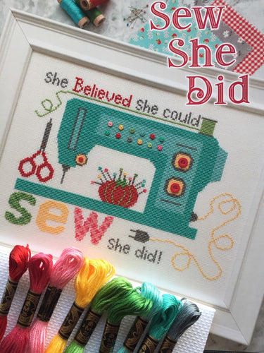 Lori Holt cross stitch kit - Sew She Did