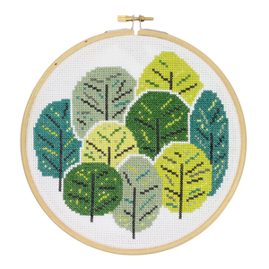 Hawthorne Handmade Summer Trees cross stitch kit