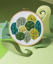 Load image into Gallery viewer, Hawthorne Handmade Summer Trees cross stitch kit