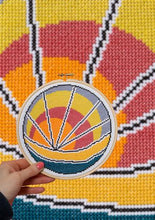 Load image into Gallery viewer, Hawthorne Handmade Sunset Beach cross stitch kit