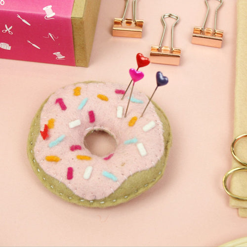 The Make Arcade Doughnut pin cushion kit