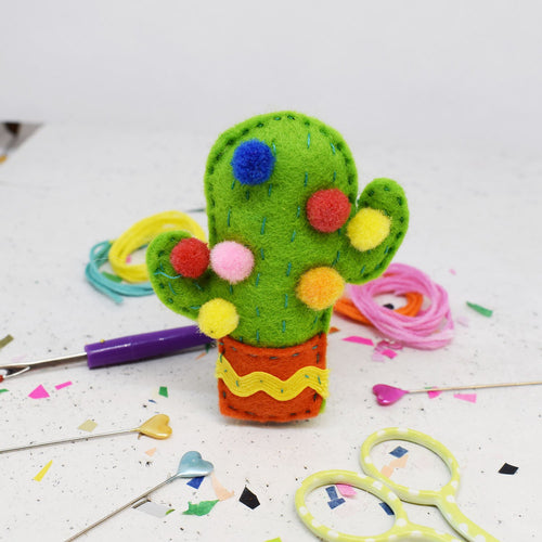 The Make Arcade Kitsch Cactus felt sewing kit