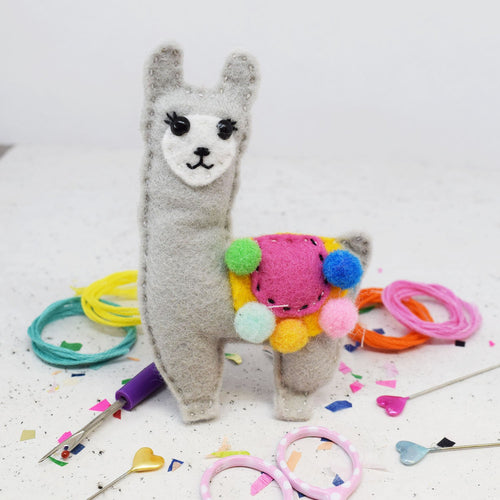 The Make Arcade Lenny Llama felt kit