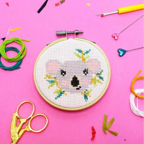 Make Arcade Cute Koala cross stitch kit