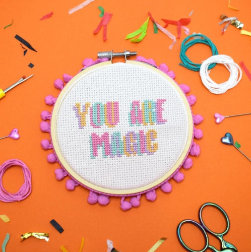 The Make Arcade You Are Magic cross stitch kit