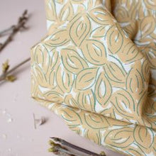 Load image into Gallery viewer, Atelier Brunette Petal Mustard fabric
