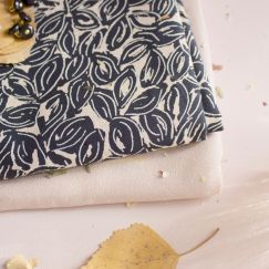 Atelier Brunette Petal Night fabric